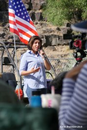 Annual Democratic picnic on Sunday held at Rock Creek Park-2018. Paulette Jordan spoke to picnic attendees.
